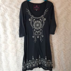 JOHNNY WAS embroidered small dress